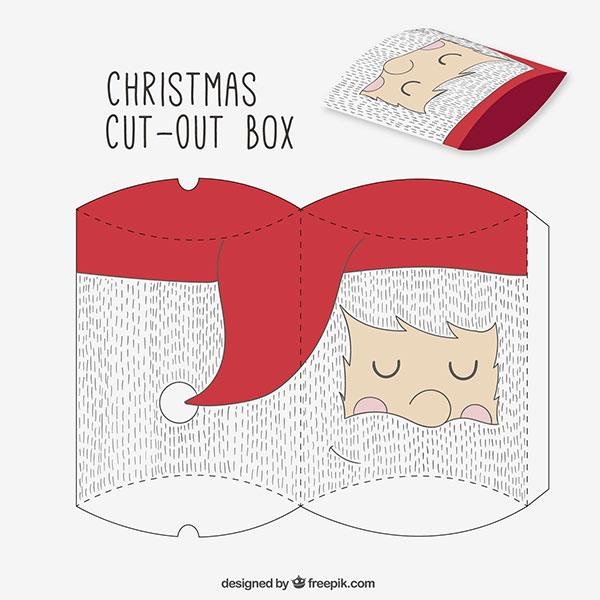 Scatolina regalo natalizia fai da te a forma di busta n.13
