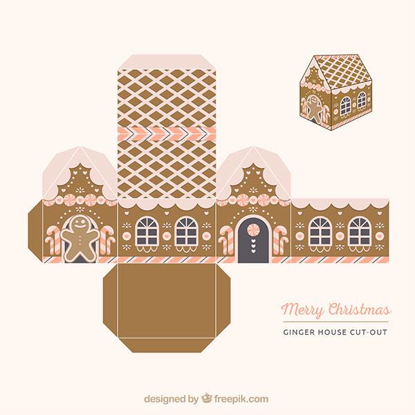 Scatoline regalo natalizie fai da te da stampare e for Modelli di case da costruire