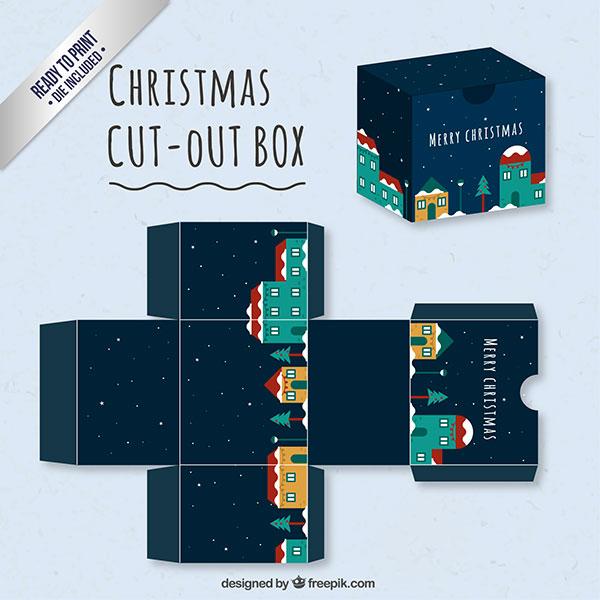 Scatolina regalo natalizia fai da te in versione classica n.01