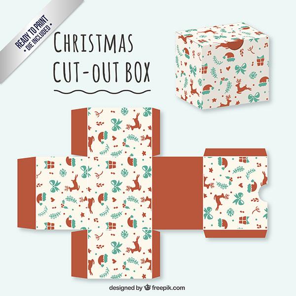 Scatolina regalo natalizia fai da te in versione classica n.02