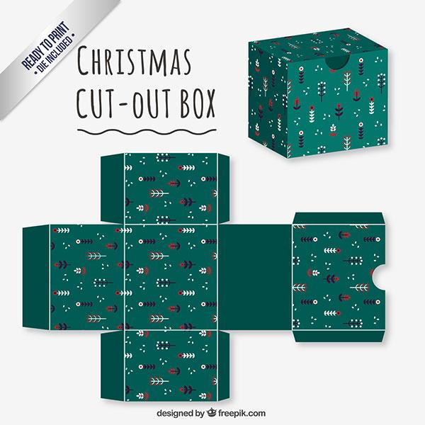 Scatolina regalo natalizia fai da te in versione classica n.03