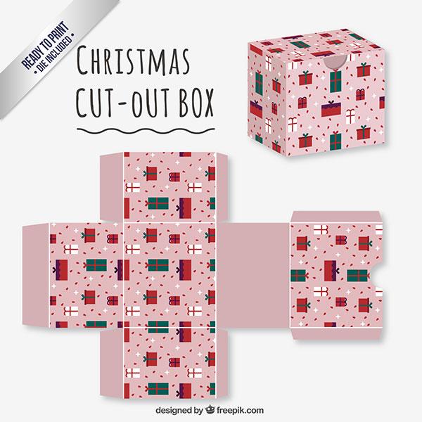 Scatolina regalo natalizia fai da te in versione classica n.04