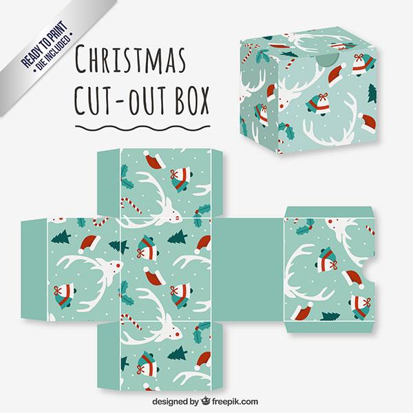 Scatolina regalo natalizia fai da te in versione classica n.05