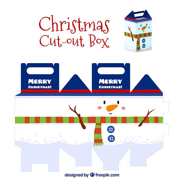 Scatolina regalo natalizia fai da te con maniglia n.02