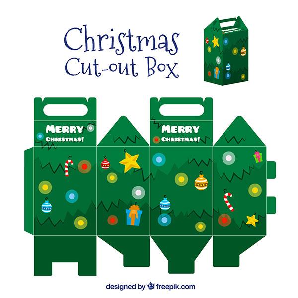 Scatolina regalo natalizia fai da te con maniglia n.03