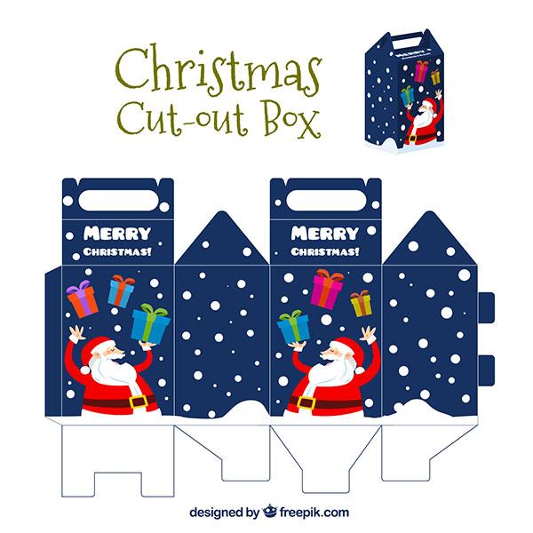 Scatolina regalo natalizia fai da te con maniglia n.04