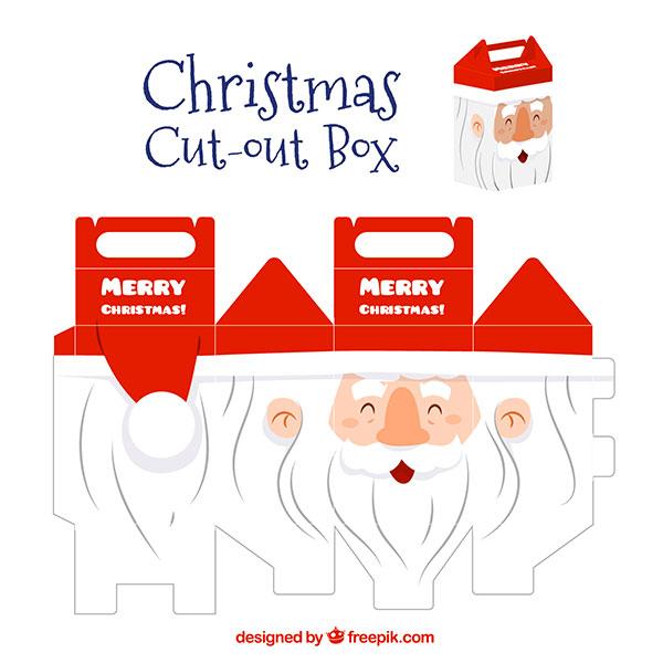 Scatolina regalo natalizia fai da te con maniglia n.05