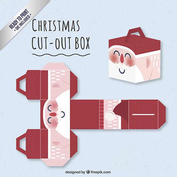 Scatolina regalo natalizia fai da te con maniglia n.10