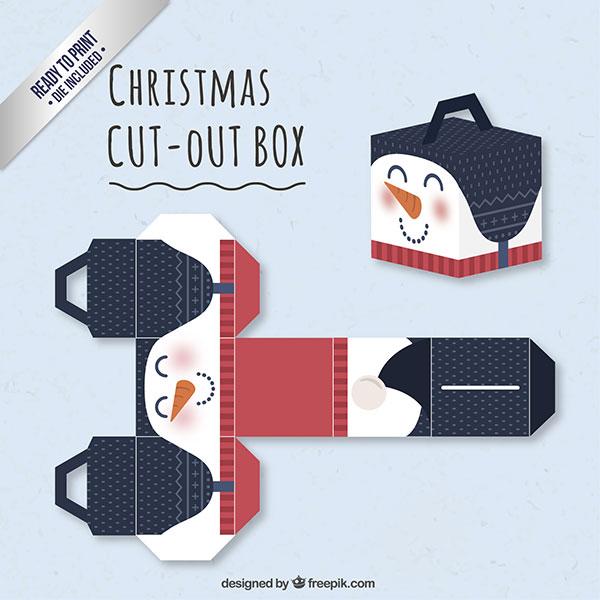 Scatolina regalo natalizia fai da te con maniglia n.11