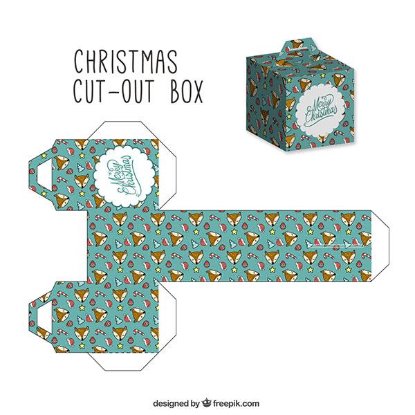 Scatolina regalo natalizia fai da te con maniglia n.12