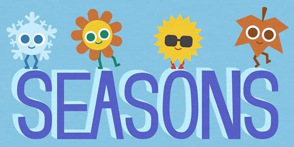 Schede didattiche per imparare le stagioni in inglese da stampare gratis