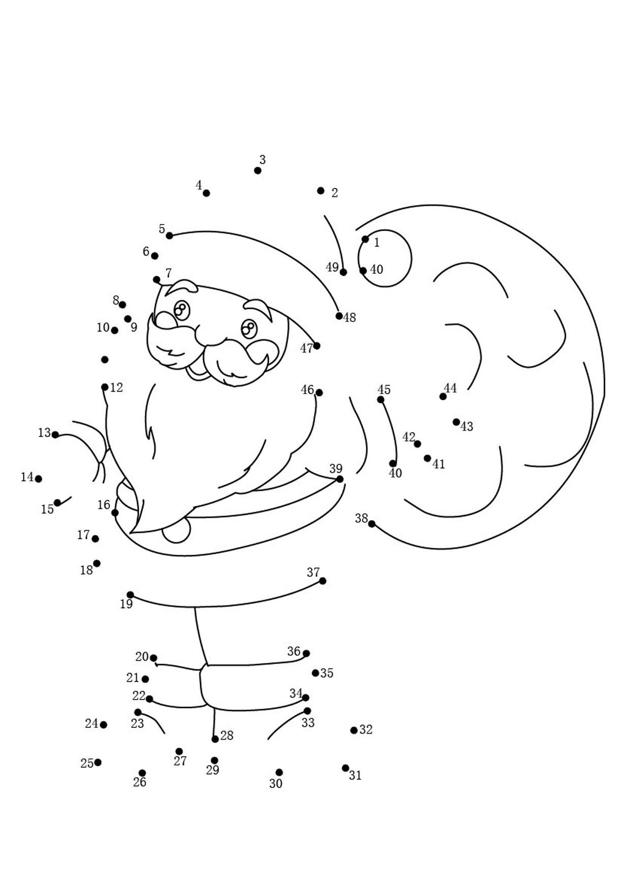 Unisci i puntini Babbo Natale 1-49