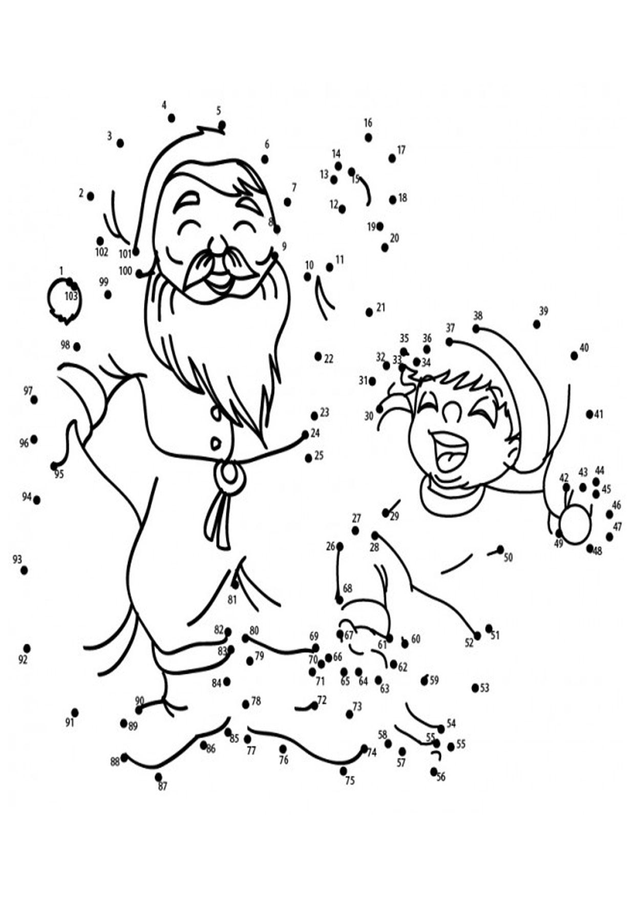 Unisci i puntini Babbo Natale 1-103