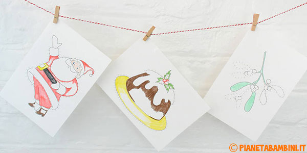 Unisci i puntini dedicati al Natale da stampare gratis