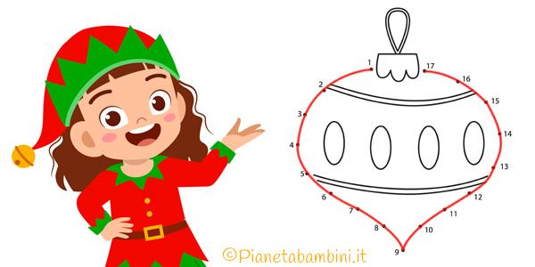 Unisci i puntini sul Natale da stampare