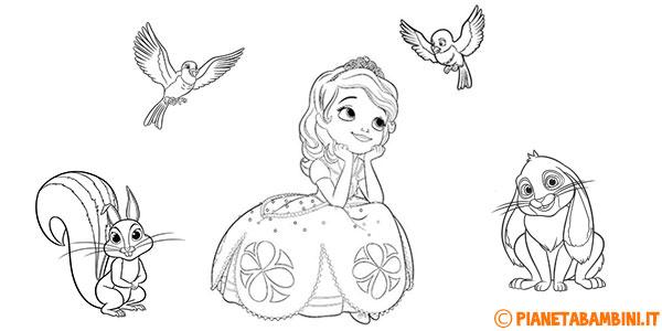 Disegni di Sofia la Principessa da stampare gratis