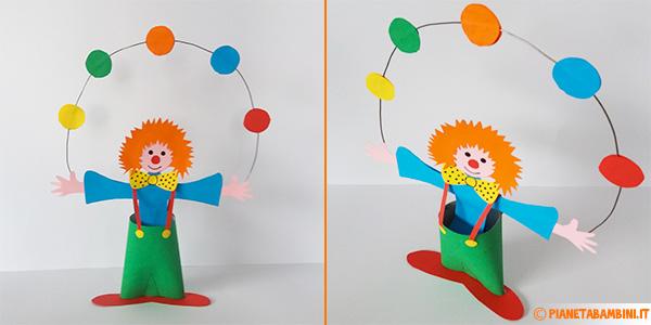 Come creare un pagliaccio di cartoncino per Carnevale