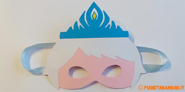 Come creare una maschera di Elsa di Frozen con sagome da stampare