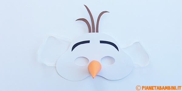 Maschera di Olaf da stampare e costruire