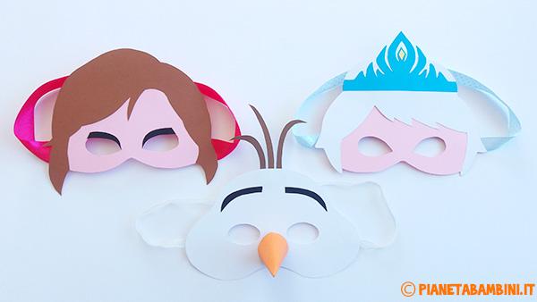 Come creare le maschere di Elsa, Anna ed Olaf con sagome da stampare gratis