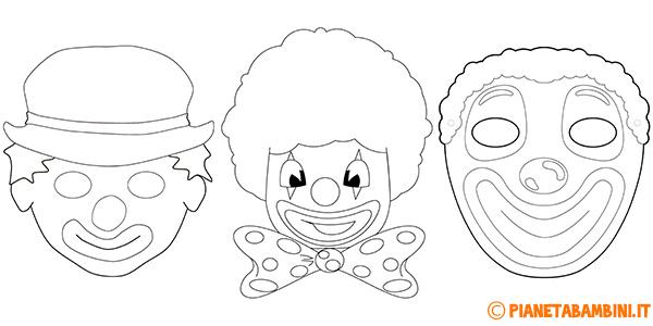 Maschera da pagliacci per bambini da stampare gratis e decorare