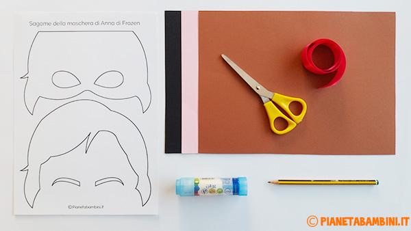 Occorrente per la creazione della maschera di Anna di Frozen