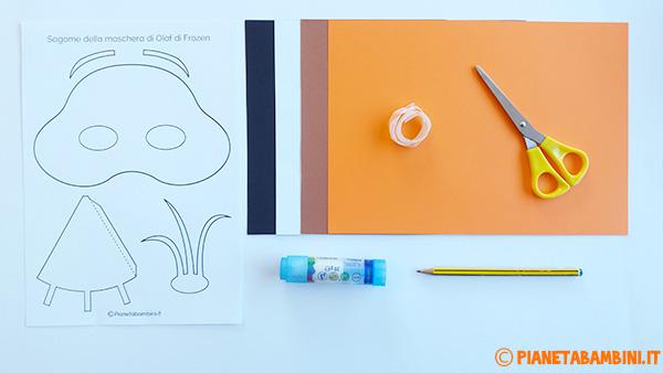 Occorrente per la creazione della maschera di Olaf