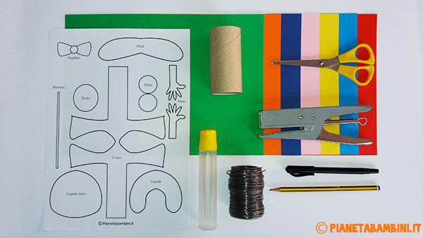 Occorrente per la creazione del pagliaccio di cartoncino