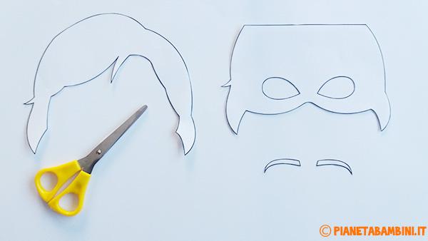 Come ritagliare le sagome per creare la maschera di Anna di Frozen
