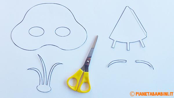 Come ritagliare le sagome per la creazione della maschera di Olaf