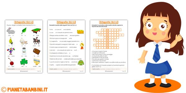Schede didattiche su GLI-LI per bambini della scuola primaria