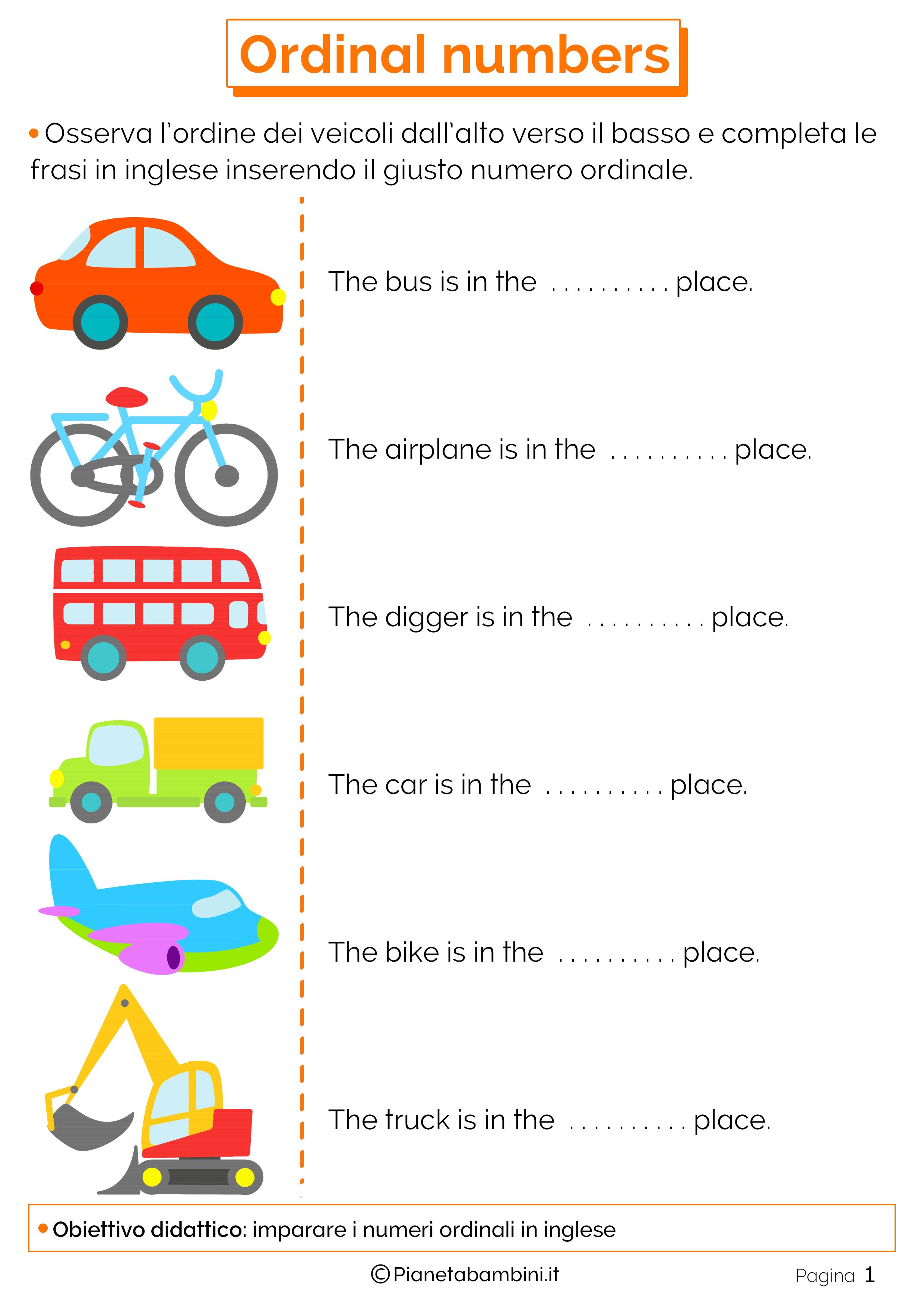 Le stagioni in inglese per bambini yj51 regardsdefemmes - Colore per numeri per i bambini ...
