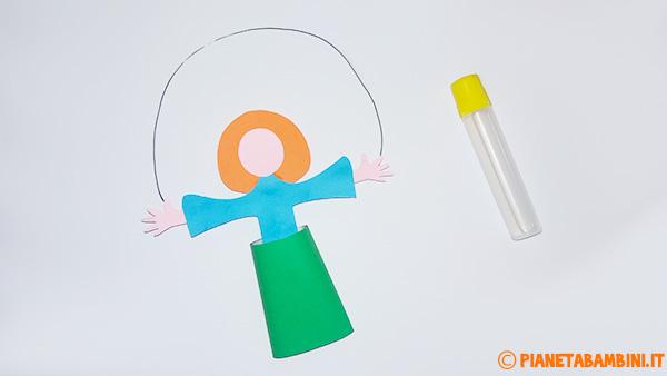 Come creare la testa ed i capelli del pagliaccio di cartoncino