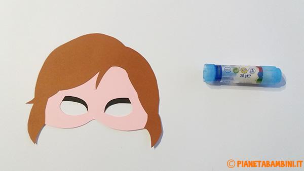 Come unire le sagome per creare la maschera di Anna di Frozen