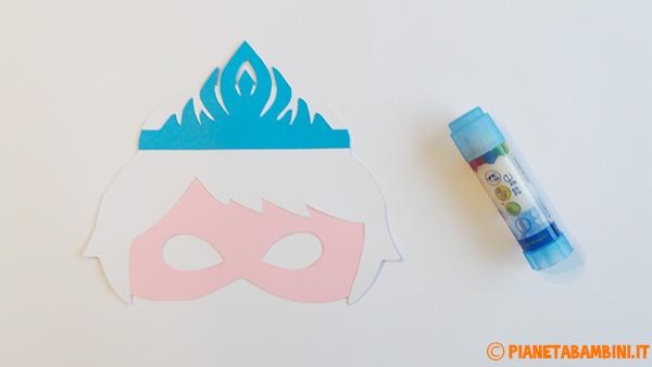 Come unire le varie parti della maschera di Elsa