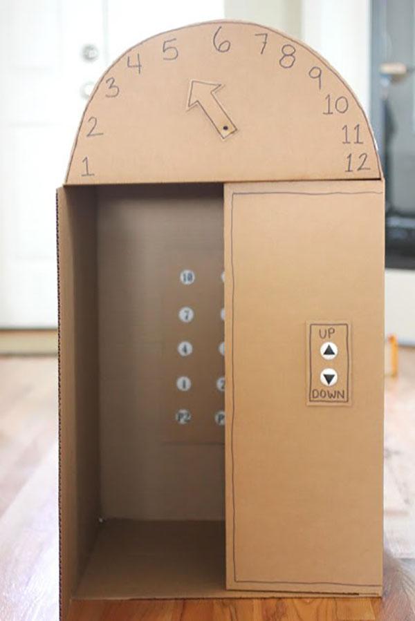 Come creare un ascensore con il cartone