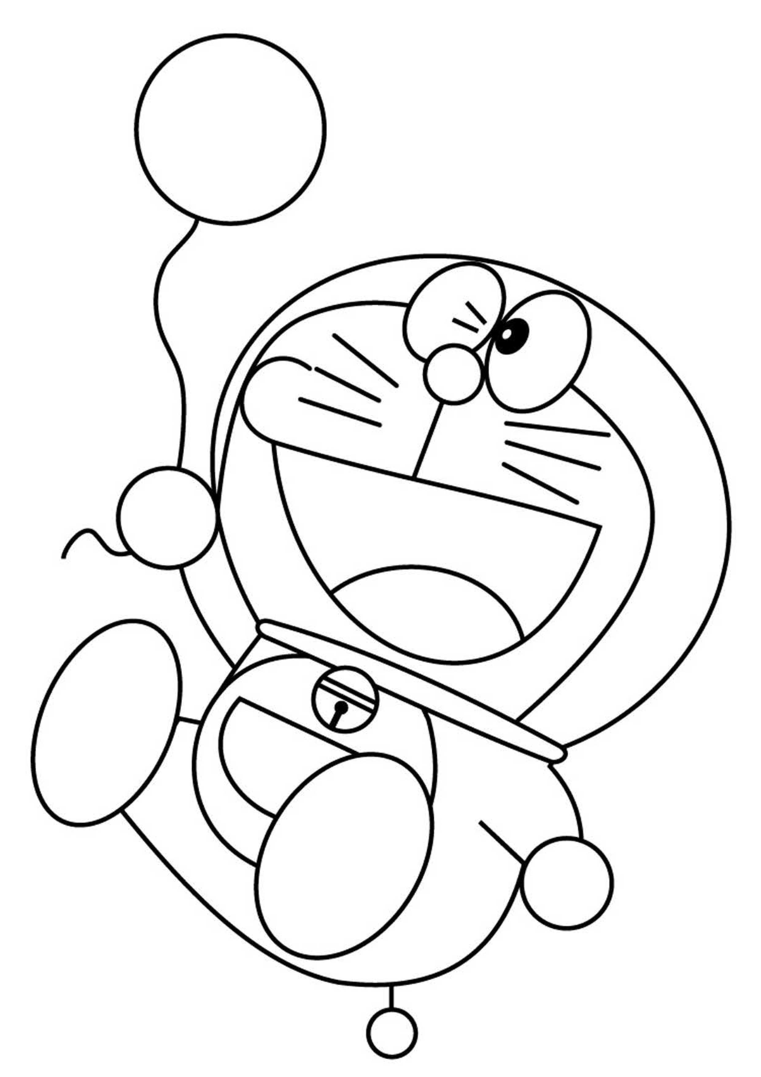 28 disegni di doraemon da colorare for Pesciolini da colorare per bambini