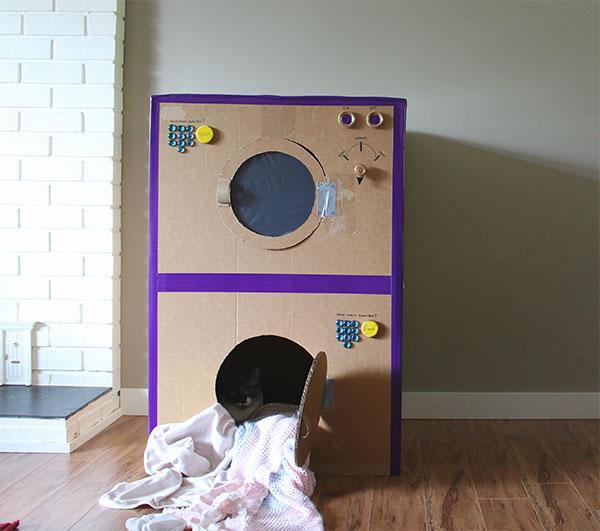 Come creare una lavasciuga con il cartone