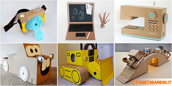Idee per lavoretti per i bambini con scatole di cartone