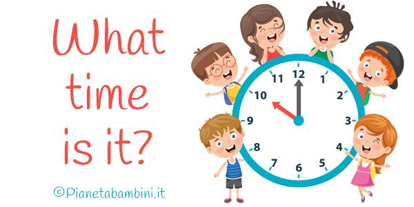 Esercizi sull'orario in inglese per bambini della scuola primaria