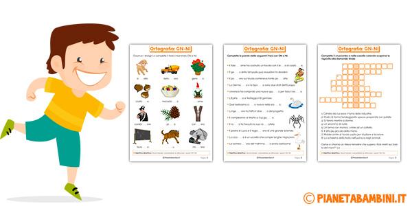Schede didattiche su GN-NI per bambini della scuola primaria