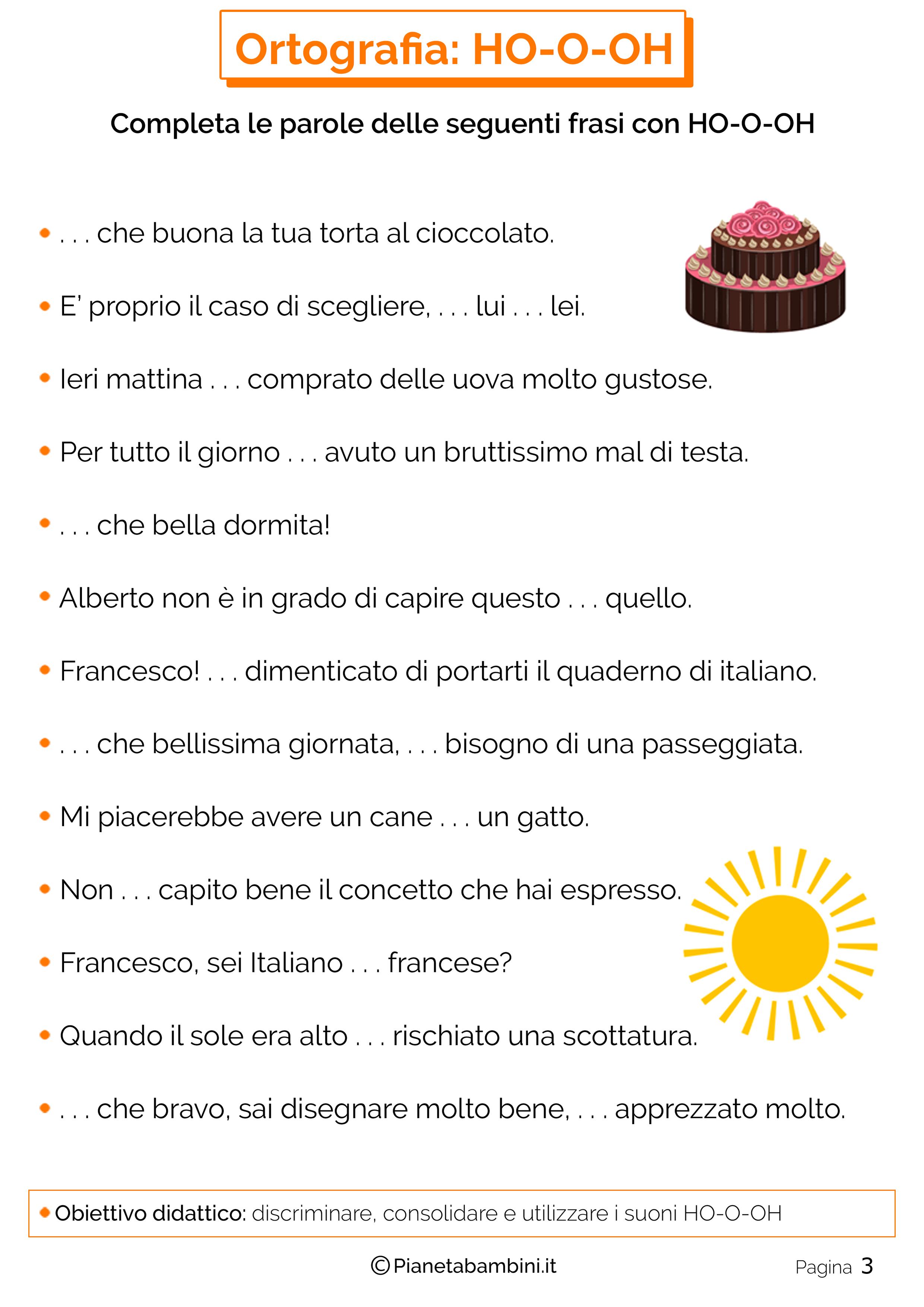 Eccezionale Schede Didattiche sull'H da Stampare | PianetaBambini.it FF45