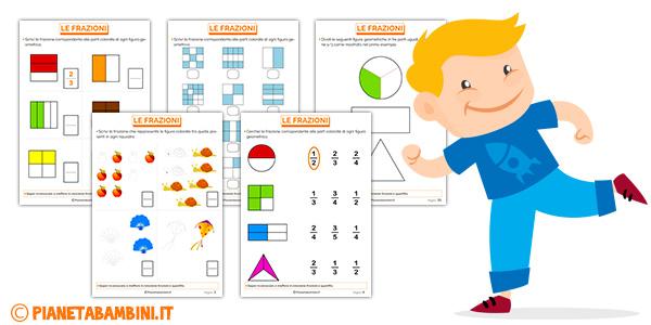 Esercizi semplici per spiegare le frazioni ai bambini
