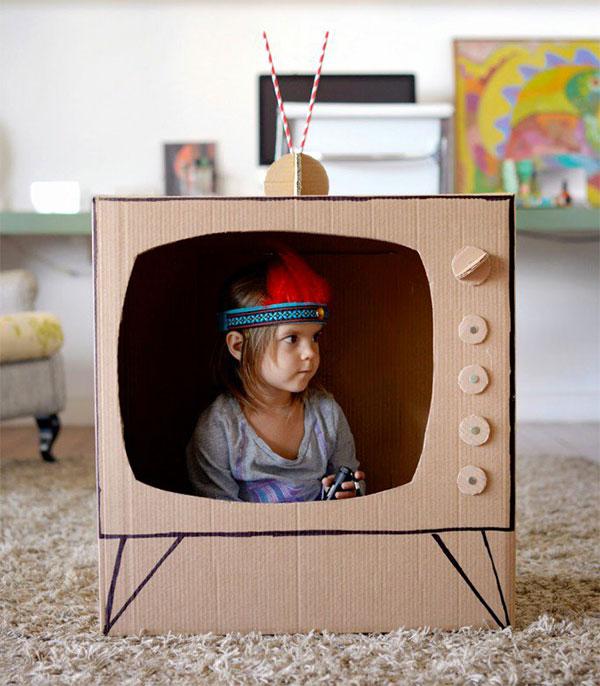 Come creare una tv con il cartone