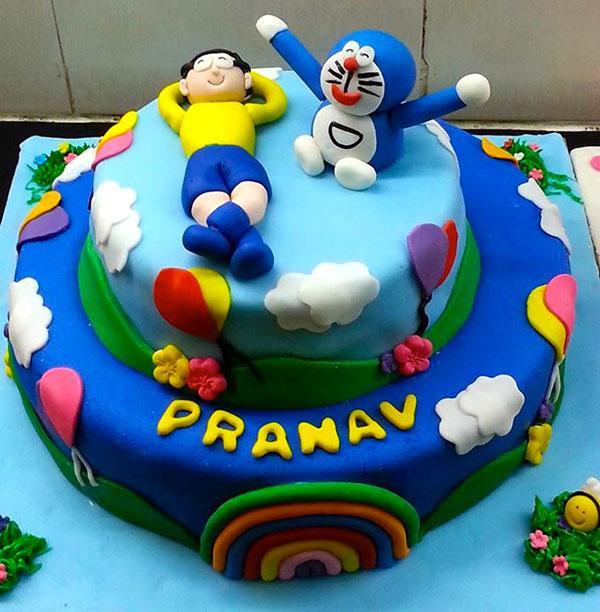 Torta di Doraemon in pasta di zucchero n.02