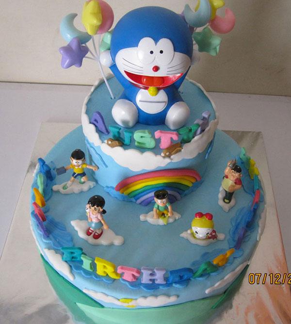 Torta di Doraemon in pasta di zucchero n.04