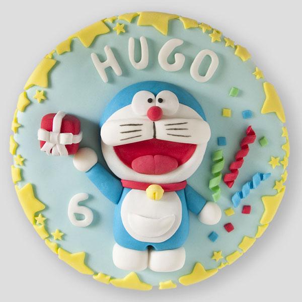 Torta di Doraemon in pasta di zucchero n.05