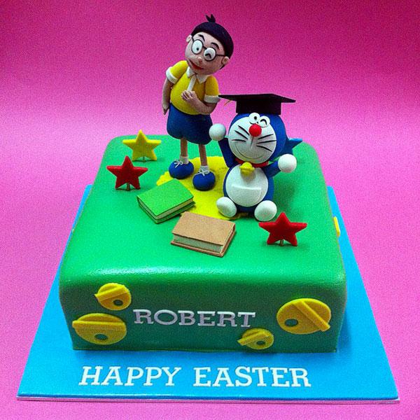 Torta di Doraemon in pasta di zucchero n.21