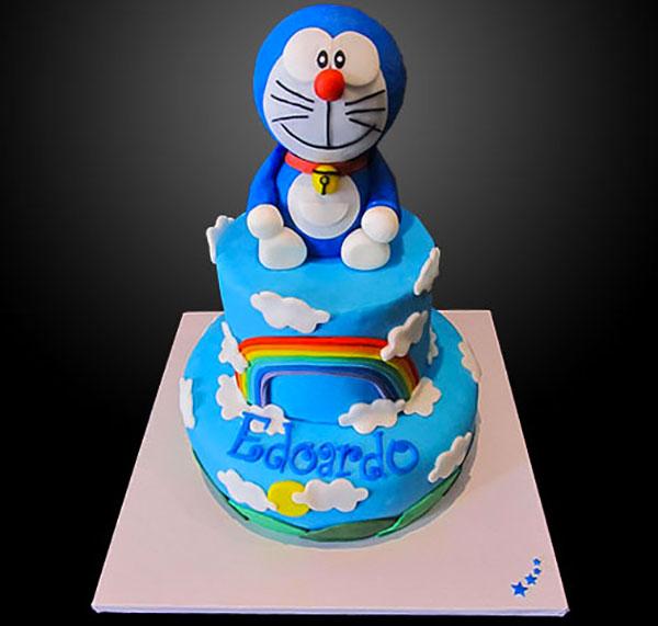 Torta di Doraemon in pasta di zucchero n.42