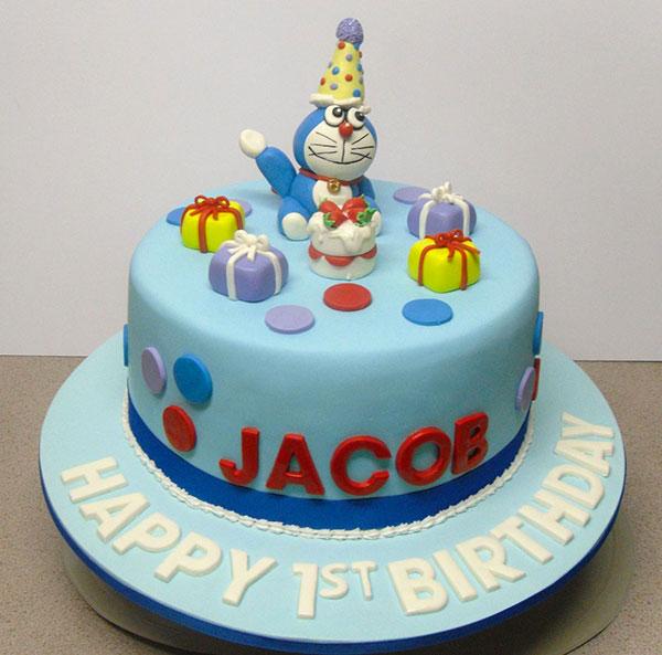 Torta di Doraemon in pasta di zucchero n.50
